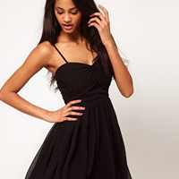 ASOS | ASOS Mini SKater Dress with Sweetheart Neck at ASOS