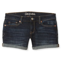 Dark Wash Midi Denim Shorts