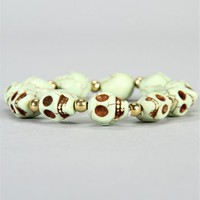 Mint Cracked Skull Bracelet :: www.windsorstore.com