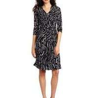 Jones New York Women's 3/4 Sleeve Dress