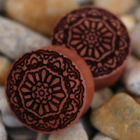 Mandala Wood Plug | UK Custom Plugs Shop for gauges, alternative fashion & body jewellery
