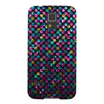 Samsung Galaxy S5 Case Polka Dot Sparkley Jewels