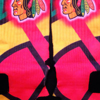Chicago Blackhawks Inspired Custom Nike Elite Socks