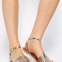 New Look Wide Fit Hebe Two Part Flat Sandals
