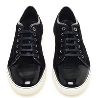 LANVIN | Suede and Patent Leather Trainers | Browns fashion & designer clothes & clothing