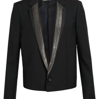 SAINT LAURENT | Chain Lapel Wool Tuxedo Jacket | Browns fashion & designer clothes & clothing