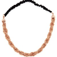 MAISON MICHEL | Rose Gold Chain Headband | Browns fashion & designer clothes & clothing
