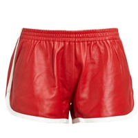 LOVE LEATHER | Leather Gym Shorts | Browns fashion & designer clothes & clothing