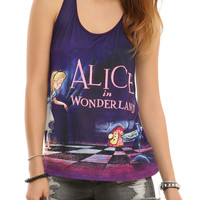 Disney Alice In Wonderland Title Card Girls Tank Top