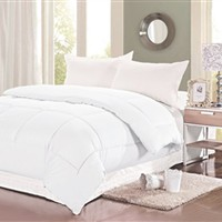 Natural Cotton Twin XL Comforter - College Ave - White