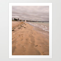 Beach walk on Instow Art Print by  Alexia Miles photography