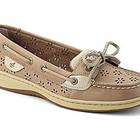 Angelfish Floral Perf Leather Boat Shoe