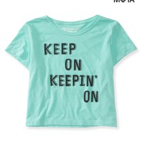 Keepin' On Crop Graphic T