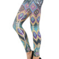 Carrie's Closet - Aztec Footless Tights -- SHEER