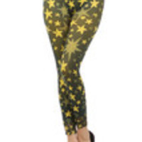 Carrie's Closet - Yellow Stars and starfish Footless Tights -- SHEER