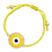 Pree Brulee - Yellow Evil Eye Luck Bracelet