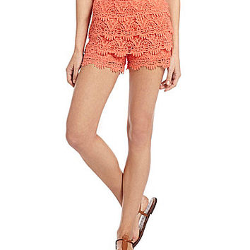 Miss Me Tiered Crochet Shorts | Dillards.com
