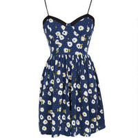 Daisy Print Corset Dress