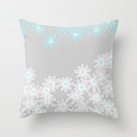 Daisy Dance Throw Pillow by micklyn | Society6