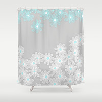 Daisy Dance Shower Curtain by micklyn