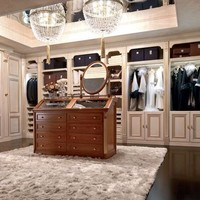 Walk-in wardrobe EMOZIONI Luxury Night Area Collection by Martini Mobili