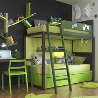 Wooden bunk bed S012 Boxer Collection by dearkids