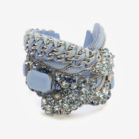 BARBARA BUI CRYSTAL DETAIL LEATHER BRACELET