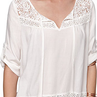 LA Hearts Bubble Hem Lace Peasant Top at PacSun.com