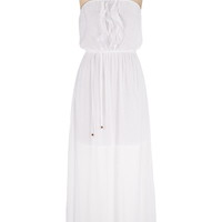 ruffle top gauze maxi dress