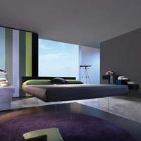 Double bed AIR Air Collection by Lago | design Daniele Lago