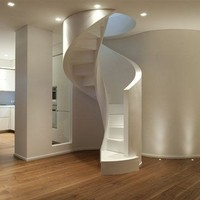 Spiral staircase Mod. 700 Elicoidale by Interbau Suedtirol Treppen