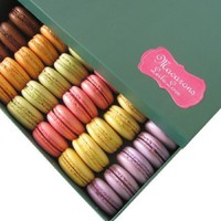 Leilalove Macarons, 24 Quantities 6 Varieties, All Natural Flavors- Beautifully packaged/Presentation Gift Box