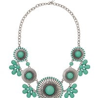 cockatoo medallion statement necklace