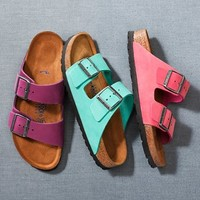 Birkenstock 'Arizona' Soft Footbed Suede Sandal (Women) | Nordstrom