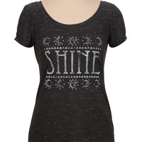 shine graphic print tee