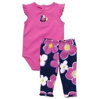 Carter's 2-pc. Flowers Cute & Comfy Pant Set