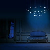 LED glass pendant lamp SMOON BIRDIE LIGHT Smoon Collection by Beau & Bien