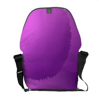 Floating Allium Flowers Rickshaw Messenger Bag