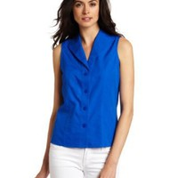 Jones New York Women's Petite Sleeveless Blouse