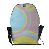 Pastel Circles Rickshaw Messenger Bag