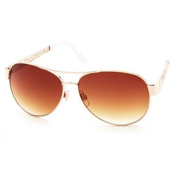 DAISY CUT-OUT AVIATOR SUNGLASSES
