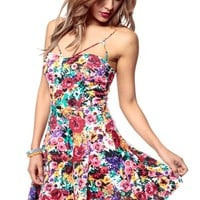 Art in the Water Floral Skater Dress @ Cicihot sexy dresses,sexy dress,prom dress,summer dress,spring dress,prom gowns,teens dresses,sexy party wear,ball dresses