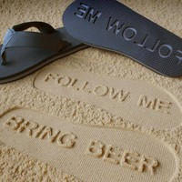 FlipSidez FOLLOW ME BRING BEER Sandals