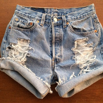 Size 0/2 Levi's High Waisted Jean Shorts
