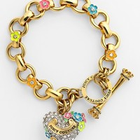 Juicy Couture 'Blooming Hearts' Charm Bracelet