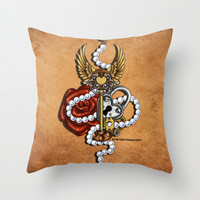 Key To My Heart Throw Pillow by Katie Simpson | Society6