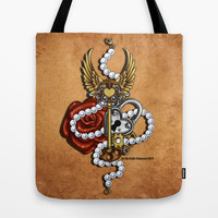 Key To My Heart Tote Bag by Katie Simpson | Society6