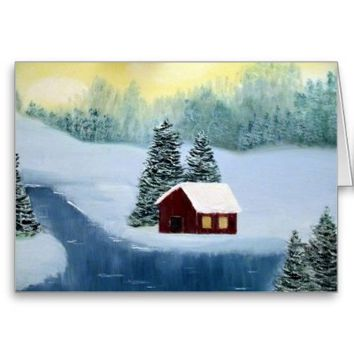 Winter Peace Holiday Greeting Card