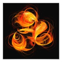 Fireball Abstract Art Photo Print