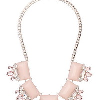 primrose gem and rhinestone statement necklace